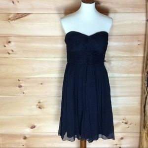 J. Crew navy chiffon strapless dress Size 12